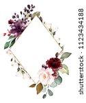 card. watercolor invitation... | Shutterstock . vector #1123434188