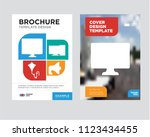 pay per click brochure flyer... | Shutterstock .eps vector #1123434455