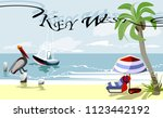 key west   is an island and...   Shutterstock .eps vector #1123442192