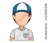 delivery worker avatar character | Shutterstock .eps vector #1123452248