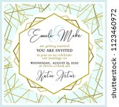 wedding invitation  with... | Shutterstock .eps vector #1123460972
