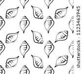 conch a marine mollusc  conch... | Shutterstock .eps vector #1123463945