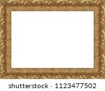 picture frame isolated on white ... | Shutterstock . vector #1123477502