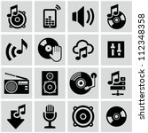 music icons set. | Shutterstock .eps vector #112348358