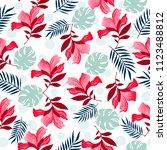 seamless floral pattern vector... | Shutterstock .eps vector #1123488812