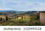 tuscany in winter after rain | Shutterstock . vector #1123495118