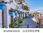 beautiful view of old mijas... | Shutterstock . vector #1123501598
