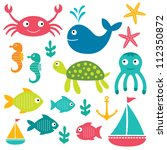 sea vector elements | Shutterstock .eps vector #112350872