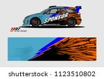 car decal graphic background... | Shutterstock .eps vector #1123510802