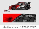 car decal graphic background... | Shutterstock .eps vector #1123510922