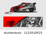 car decal graphic background...   Shutterstock .eps vector #1123510925