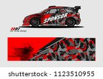 car decal graphic background...   Shutterstock .eps vector #1123510955