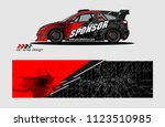 car decal graphic background... | Shutterstock .eps vector #1123510985