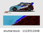 car decal graphic background... | Shutterstock .eps vector #1123511048