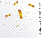 abstract confetti out of focus... | Shutterstock .eps vector #1123511162