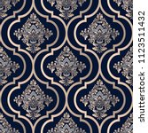 vector damask seamless pattern... | Shutterstock .eps vector #1123511432