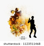 fit young male jogger. healthy... | Shutterstock .eps vector #1123511468