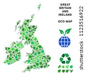 eco great britain and ireland... | Shutterstock .eps vector #1123516922