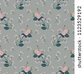seamless texture with floral...   Shutterstock .eps vector #1123529192
