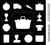 set of 13 simple editable icons ... | Shutterstock .eps vector #1123531142