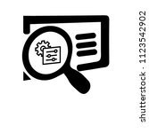 settings search linear icon.... | Shutterstock .eps vector #1123542902