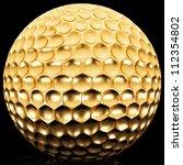 gold golf ball | Shutterstock . vector #112354802