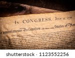 a copy of the declaration of... | Shutterstock . vector #1123552256