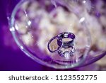 weddings rings matrimony | Shutterstock . vector #1123552775