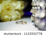 weddings rings matrimony | Shutterstock . vector #1123552778
