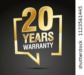 20 years warranty in speech... | Shutterstock .eps vector #1123561445