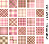 Big Plaid Pattern Set