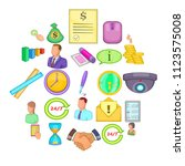 monetary influence icons set.... | Shutterstock .eps vector #1123575008