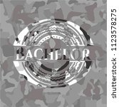 bachelor written on a grey... | Shutterstock .eps vector #1123578275