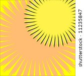 vector summer sun background | Shutterstock .eps vector #11235847