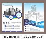 cover  layout  brochure ... | Shutterstock .eps vector #1123584995