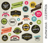 set of vector stickers and... | Shutterstock .eps vector #112359026