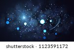 real backlit dust particles... | Shutterstock . vector #1123591172