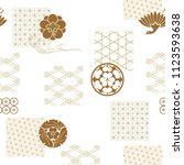 Japanese Pattern Vector. Gold...