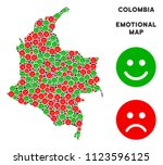 happiness and sorrow colombia... | Shutterstock .eps vector #1123596125