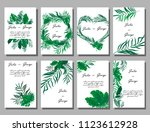 wedding invitation frame set ... | Shutterstock .eps vector #1123612928
