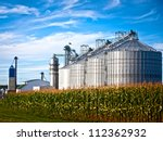 Corn Dryer Silos Standing In A...
