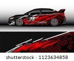 car wrap graphic racing... | Shutterstock .eps vector #1123634858