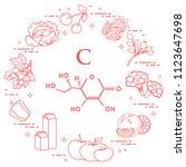 foods rich in vitamin c. cherry ...   Shutterstock .eps vector #1123647698