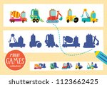 find the correct shadow. mini... | Shutterstock .eps vector #1123662425