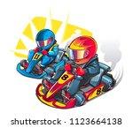 karting race. cartoon... | Shutterstock .eps vector #1123664138