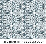 geometric flower seamless... | Shutterstock .eps vector #1123665026