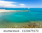 view on beautiful blue sea from ...   Shutterstock . vector #1123675172