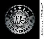 115 years anniversary.... | Shutterstock .eps vector #1123687622
