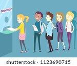 illustration of teenage girls... | Shutterstock .eps vector #1123690715