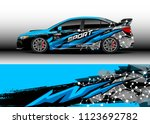 car wrap graphic racing... | Shutterstock .eps vector #1123692782